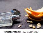 perfume  orange peel | Shutterstock . vector #678604357