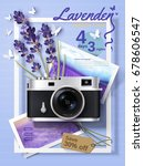 lavender season tour ads ... | Shutterstock .eps vector #678606547