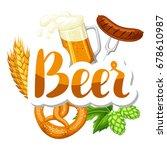 oktoberfest beer festival.... | Shutterstock .eps vector #678610987
