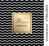 waves classic pattern. vector... | Shutterstock .eps vector #678613843