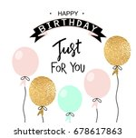 happy birthday greeting card... | Shutterstock .eps vector #678617863