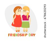 friendship day background with... | Shutterstock .eps vector #678620293