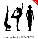 vector contour collection of... | Shutterstock .eps vector #678620677