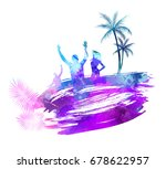 abstract painted splash shape... | Shutterstock .eps vector #678622957