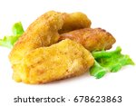 Croquettes Isolated On White