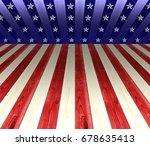 usa white  red  and blue... | Shutterstock . vector #678635413