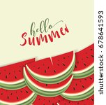 hello summer card with... | Shutterstock .eps vector #678641593