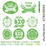 organic bio ecology natural... | Shutterstock . vector #678648043