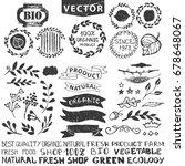vector nature bio  logo... | Shutterstock . vector #678648067