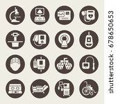 medical equipment icon set | Shutterstock .eps vector #678650653