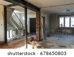 interior of a house under...   Shutterstock . vector #678650803