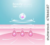 collagen solution serum and... | Shutterstock .eps vector #678666187