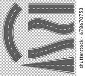 set of bending roads and... | Shutterstock .eps vector #678670753
