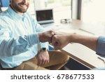 happy youthful guy... | Shutterstock . vector #678677533