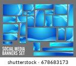 blue social media header or... | Shutterstock .eps vector #678683173
