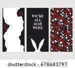 alice in wonderland. set of... | Shutterstock .eps vector #678683797