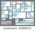 abstract social media header or ... | Shutterstock .eps vector #678685117