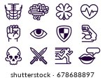 an icon set of role playing or...   Shutterstock .eps vector #678688897