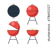 barbecue grill. bbq icons set.... | Shutterstock .eps vector #678692227