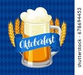 oktoberfest beer festival.... | Shutterstock .eps vector #678694453
