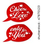 choose love stickers in form of ... | Shutterstock .eps vector #67870123
