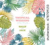 vintage wedding invitation.... | Shutterstock .eps vector #678709153