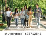 image of multiethnic group of... | Shutterstock . vector #678712843