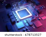 technology background. a... | Shutterstock . vector #678713527