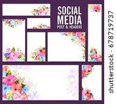 artistic social media post and... | Shutterstock .eps vector #678719737