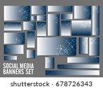 glossy social media header or... | Shutterstock .eps vector #678726343