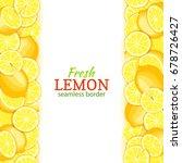 ripe lemon vertical seamless... | Shutterstock .eps vector #678726427