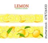 ripe lemon horizontal seamless... | Shutterstock .eps vector #678726433