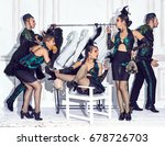 the studio shot of group of... | Shutterstock . vector #678726703