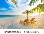 summer beach concept of... | Shutterstock . vector #678730873