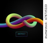 abstract 3d colorful stripe.... | Shutterstock .eps vector #678735223