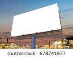large billboard against sky at... | Shutterstock . vector #678741877