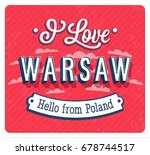 vintage greeting card from... | Shutterstock .eps vector #678744517