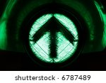 its green, go straight upwards - stock photo