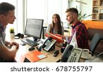 successful lawyer giving... | Shutterstock . vector #678755797