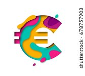 euro symbol. currency sign of... | Shutterstock .eps vector #678757903