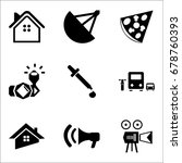 set of 9 mixed icons such as...   Shutterstock .eps vector #678760393