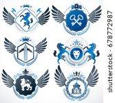 vector classy heraldic coat of...   Shutterstock .eps vector #678772987