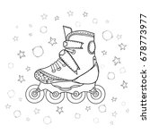 Roller Skate On Isolated White...
