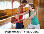 playful friends practicing at... | Shutterstock . vector #678779353