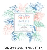 illustration tropical floral... | Shutterstock . vector #678779467