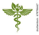caduceus symbol composed with... | Shutterstock .eps vector #678786667