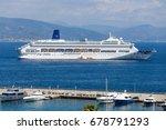 Small photo of SANTA MARGHERITA LIGURE, ITALY, JULY, 12, 2017 - Cruise ship P&O Oriana in Port of Santa Margherita Ligure, Genoa (Genova) province, Ligurian Riviera, Italy.