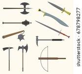 flat design colors medieval...