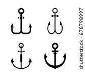 anchor icons   set of anchor...   Shutterstock .eps vector #678798997