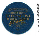 badge with rivets and words ... | Shutterstock . vector #678804067